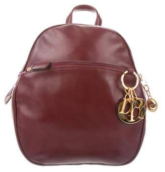 Christian Dior Leather Backpack gold Leather Backpack