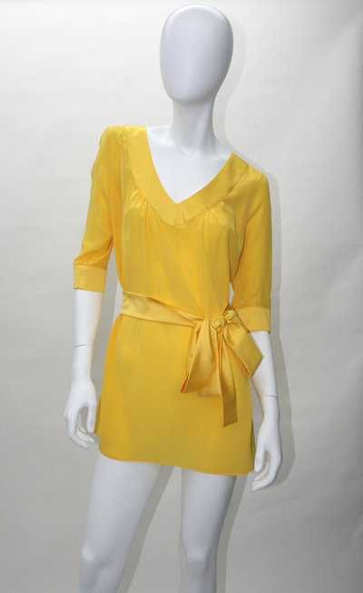 Rory Beca Rizzo Tunic  with Contrast Trim and Belt in Lemon, Blueberry and Grass