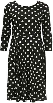 f87b5544524 Next Womens Evans Black Spot Pretty Dress