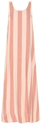 Lee Mathews Sufi striped linen and cotton dress