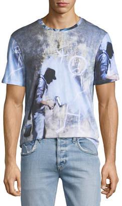 Eleven Paris Men's Ghost Graffiti T-Shirt