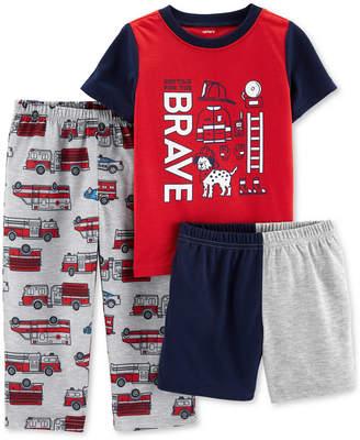 Carter's Toddler Boys 3-Pc. Rescue Pajamas