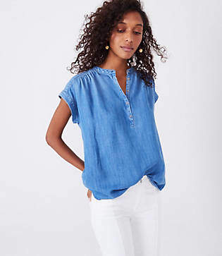 Lou & Grey Chambray Tunic Shirt