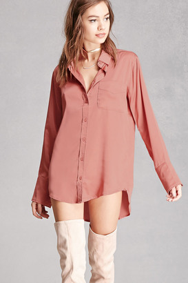 FOREVER 21+ Sheeny Satin Shirt $42 thestylecure.com