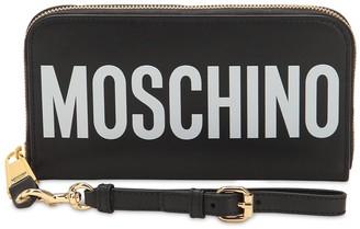 Moschino (モスキーノ) - MOSCHINO レザー ロゴプリント長財布