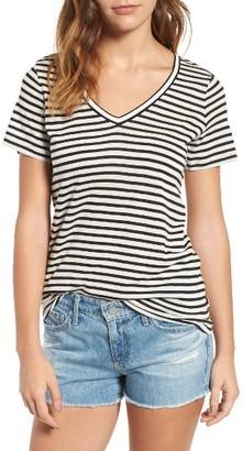 Women's Ag Kiara Stripe Tee $158 thestylecure.com