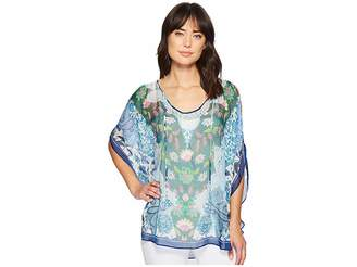 Hale Bob Simply Irresistible Washed Silk Chiffon Tunic Top Women's Blouse