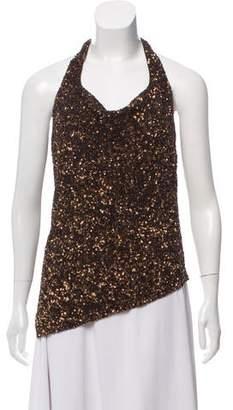 Ralph Lauren Silk Embellished Halter Top w/ Tags