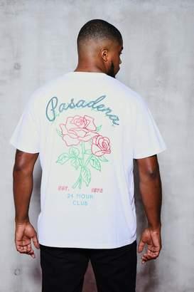 9bdb549490a7 boohoo Big & Tall Chest & Back Print T-Shirt