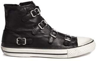 Ash 'Virgin' buckle leather high top sneakers