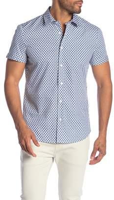 Parke & Ronen Biscayne Floral Short Sleeve Slim Fit Shirt
