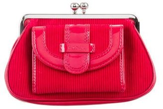 Paul Smith Red Corduroy Pouch $85 thestylecure.com