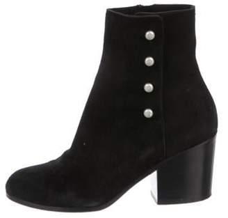 Maison Margiela Suede Ankle Boots Black Suede Ankle Boots