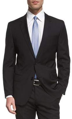 Boss Hugo Boss Huge Genius Slim-Fit Basic Suit, Black $995 thestylecure.com