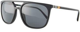 Burberry Flat-Top Square Acetate Sunglasses