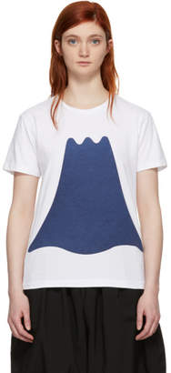 Blue Blue Japan White Mt. Fuji Shadow T-Shirt