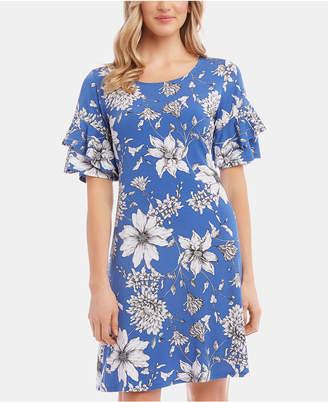 Karen Kane Ruffle-Sleeve Dress