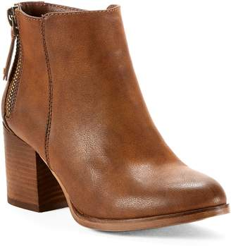 Yellow Shoes MORI Womens Heeled Ankle High Boots - Casual & Comfortable - Medium Block Chunky Heel - Made from Synthetic Leather - Cowboys & Western Style - Perfect Booties for Spring Fall Taupe