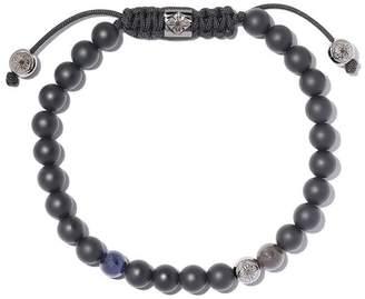 Black Diamond Shamballa Jewels 18kt white gold, blue sapphire & beaded Non-Braided bracelet