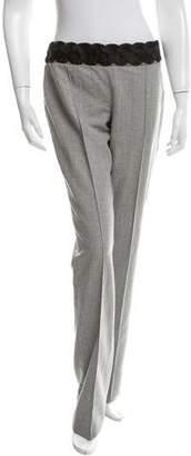 Valentino Silk Straight-Leg Pants