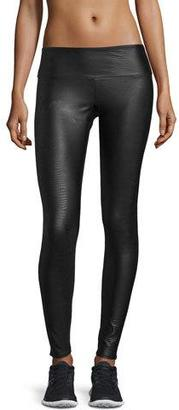 Onzie Coated Snake-Embossed Long Legging $65 thestylecure.com