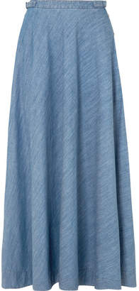 Gabriela Hearst - Paul Cotton-chambray Maxi Skirt - Mid denim