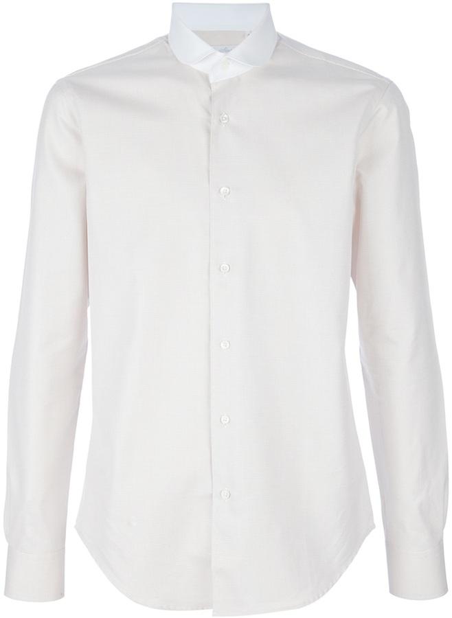 Mr Start Micro checked shirt