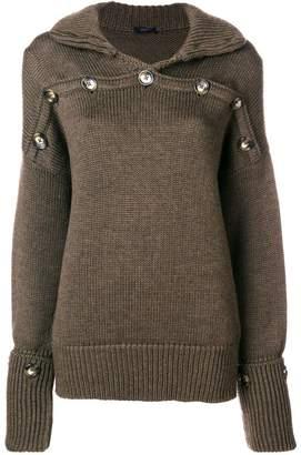 Joseph button detail high-neck sweater