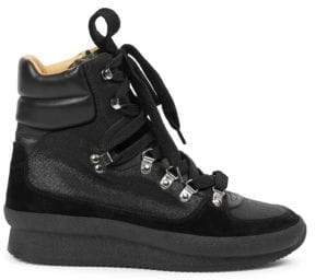 Isabel Marant Brendty Leather Mountain Hiking Boots