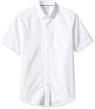 Amazon Essentials Men's Slim-Fit Short-Sleeve Solid Pocket Oxford Shirt