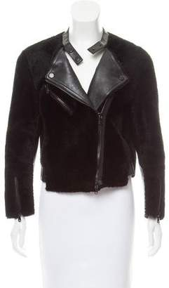 3.1 Phillip Lim Leather Shearling Jacket