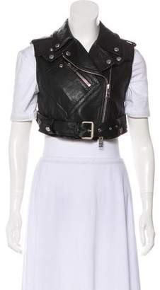 Burberry Leather Biker Vest