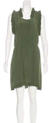 Isabel Marant Ãtoile Ruffle-Accented Mini Dress Olive Ãtoile Ruffle-Accented Mini Dress