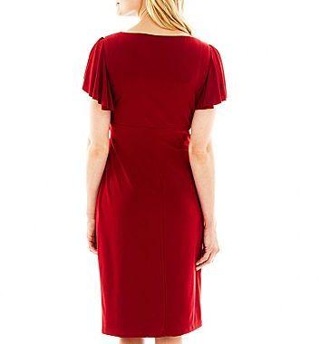 JCPenney American Living Flutter-Sleeve Dress