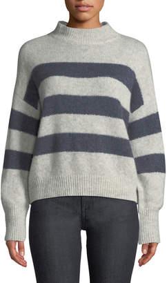 Rails Ellise Striped Cashmere-Silk Pullover Sweater