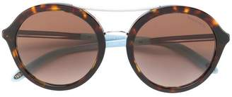 Tiffany & Co. Eyewear tortoiseshell-effect round sunglasses