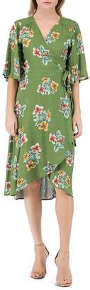 Bobeau B Collection by Orna Floral-Print Wrap Dress
