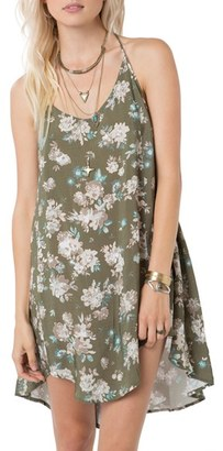 O'Neill Floral Print Swing Dress $46 thestylecure.com
