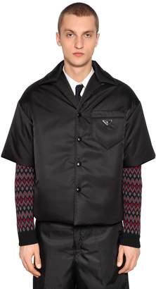 Prada Nylon Gabardine Bowling Shirt Jacket