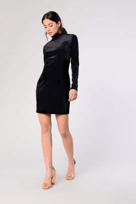 Glamorous Womens **Velvet High Neck Dress By Tall
