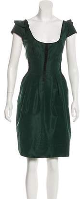 Prada Silk-Blend Knee-Length Dress