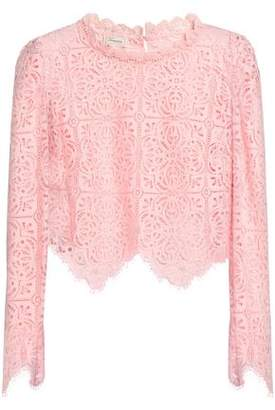 Temperley London Nomi Cropped Cotton-Blend Lace Blouse
