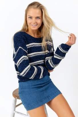 francesca's Juniper Bow Back Sweater - Navy