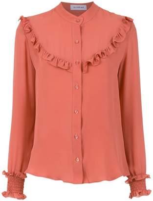 Olympiah ruffle details silk blouse