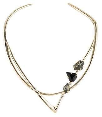 Alexis Bittar Labradorite Doublet & Crystal Collar Necklace