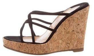 Christian Louboutin Suede Wedge Sandals