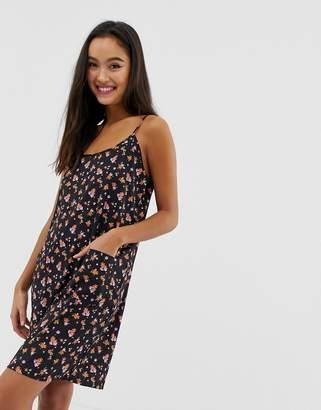 Noisy May Ditsy Printed Cami Dress With Pockets