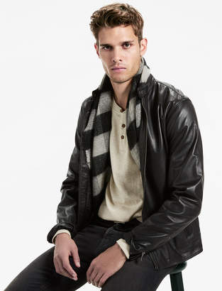 Lucky Brand CLEAN BONNEVILLE LEATHER JACKET