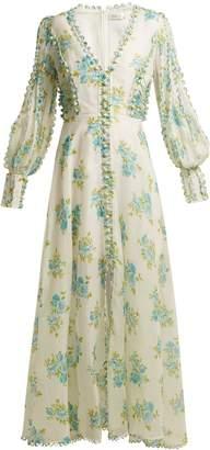 Zimmermann Whitewave Honeymooners silk-blend gown