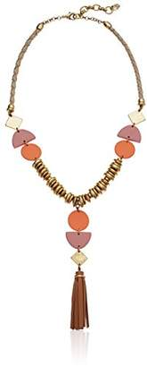Lucky Brand Women's Leather Statement Necklace